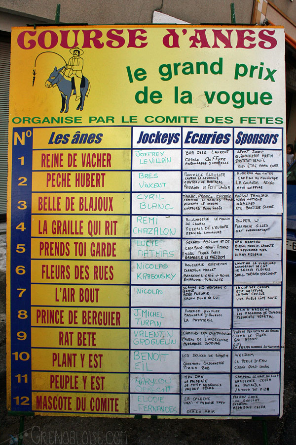 la liste ! / the list!
