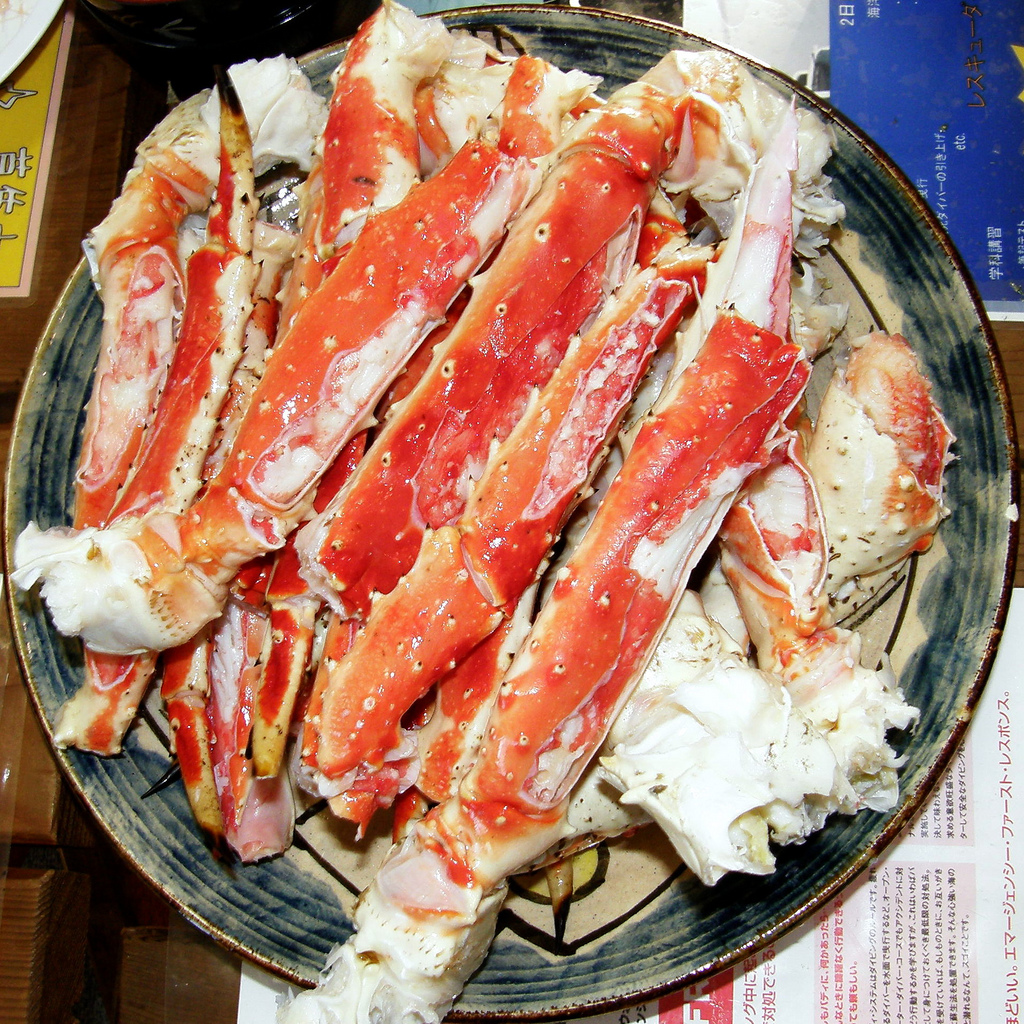 Pattes de crabe royale (?) d'Alaske